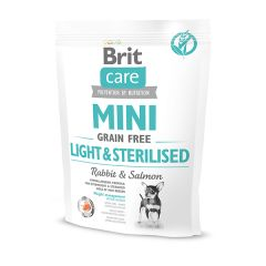 Brit Care Grain-free Mini Light&Sterilised (для собак малых пород) контроль веса, 0.4 кг